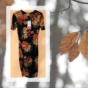 ZARA floral velvet dress